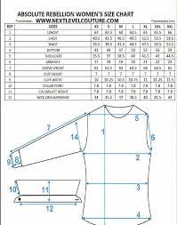 Women Dress Size Chart Absolute Rebellion Women Dress Shirt Measurement Sewing