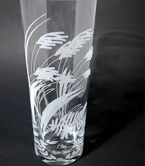 glass laser etched vase
