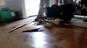 removing hardwood floor with a floor ser