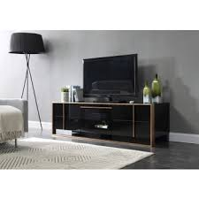 Contemporary tv furniture units Storage Units Nova Domus Cartier Modern Black Rosegold Tv Stand La Furniture Store Modern Entertainment Centers Durable Tv Stands And Tv Consoles