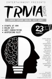 trivia night flyer templates customizable design templates for quiz postermywall