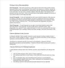 Sample Personal Character Reference Letter Template Of