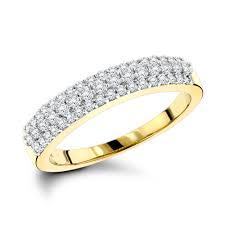thin diamond wedding bands. thin diamond wedding bands 14k gold 3 row band .57ct