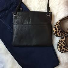 margot leather cross black
