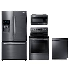 samsung kitchen appliance packages. samsung 4 piece kitchen package-black stainless steel appliance packages