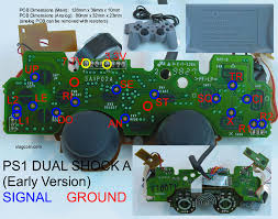 ps1 controller repair pinout query if any one has one of these could you list the pinout as the linked image from slagcoin only has the vcc and vibration power pins identified