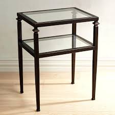 end tables glass for end table tempered top pier 1 a leftward chevron rightward round