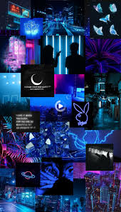 neon blue aesthetic iphone wallpaper in ...