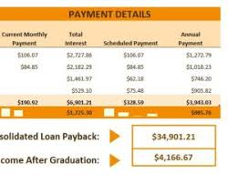 Loan Calculator College College Loan Calculator My Excel Templates