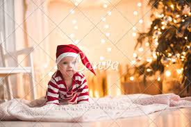 Baby Pics With Christmas Lights Baby Over Christmas Lights Photos By Canva