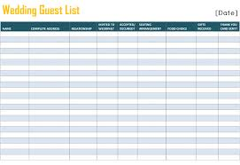 To Free Printable Wedding Guest List Template For Word And