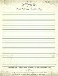 Calligraphy Practice Page Bonus