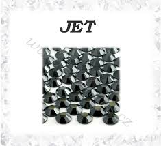 Broušené Kamínky Jet Ss10 100ks