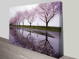 cherry blossom lane landscape canvas wall art ready to hang australia on wall art prints australia with big canvas art prints cheap wall photo pictures