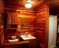 Shower Curtains Cabin Decor Log Home Bathroom Decor Guest Bathroom Wall Decor With Two Framed