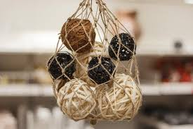 Decorative Cane Balls Interesting Wooden Natural Interior Decorative Wicker Balls Closeup Stock