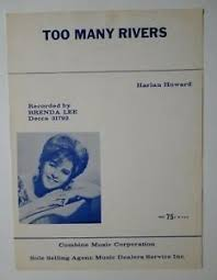 Pop Charts 1965 Details About Too Many Rivers Sheet Music Brenda Lee 1964 Pop 13 Hit In 1965