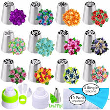 Cake Icing Tips Designs Us 19 0 Russian Piping Tips Russian Nozzles For Cake Cupcake Icing Decorating Piping Tips 27 Pcs Russian Tips Set Cake Frosting Tips Kit In Baking