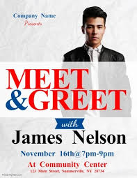 Meet And Greet Flyers Templates Meet Greet Flyer Postermywall Pinterest Flyer