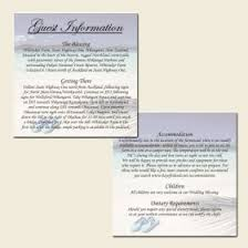 Guest Information Cards A Handy Way To Tell Guests Extra Details