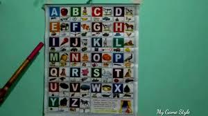 A For Apple Alphabet Chart Abc Song Nursery Rhymes Youtube