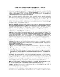 American Resume Format Example American Resume Sample Monpence
