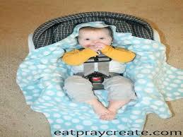 diy easy car seat blanket tutorial eat pray create from fleece swaddle blanket