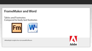 Framemaker For Word Footnotes And Table Footnotes