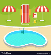 Summer swimming pool Royalty Free Vector Image