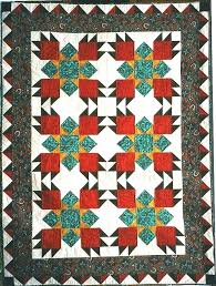 Native American Quilts Bedding Oso Grande Bear Paw Quilt In ... & Native American Quilts Bedding Oso Grande Bear Paw Quilt In Southwestern  Colors Native American Quilt Designs Adamdwight.com