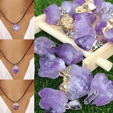 details about gemstone pendant necklace natural quartz crystal healing stone irregular jewelry