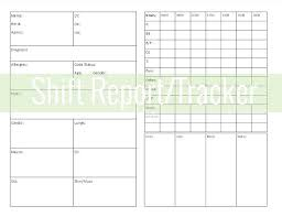 Daily Shift Report Template Daily Shift Report Example Work Templates Sample Construction
