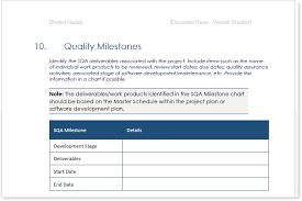 Quality Assurance Plan Example New Quality Assurance Plan Templates Ms Word Excel Klariti