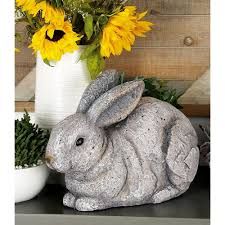Rabbit Decorative Accessories Sitting Rabbit Polystone Sculpture100 The Home Depot 64
