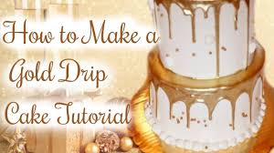 How To Make A Gold Drip Cake Janies Sweets Youtube