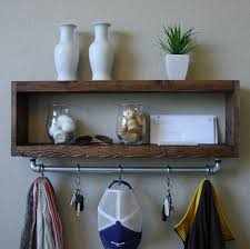 Rustic Entryway Coat Rack Modern Rustic Entryway Coat Rack with Floating Shelf and Hanging 18