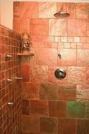 copper slate tile kitchen traditional with bead board