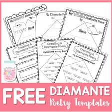 Poetry Templates Free Poetry Writing Diamante Poems By Proud To Be Primary