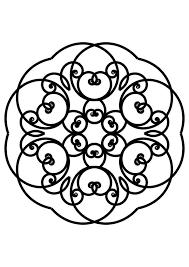 Kleurplaat Mandala Afb 30119