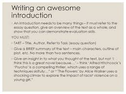 the flowers by alice walker ppt video online  20 writing an awesome introduction