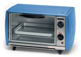 cleaning a toaster oven