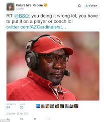 Arizona Cardinals tweet the 'Michael Jordan crying face' meme ... via Relatably.com