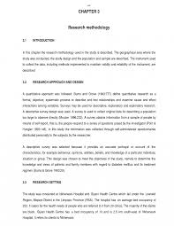 Chapter 3 Research Design Sample Methodology Example In Research Paper Of Section Pdf Sample