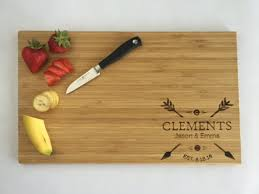 Personalized Wedding Gift Couple Gift Bamboo Cutting Board   Etsy