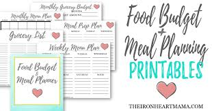 Meal Budget Planner Food Budget Meal Planner Printables The Iron Heart Mama