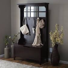 Entry Hall Bench Coat Rack Custom AmazonSmile Espresso Entryway Hall Tree With Mirror Coat Hooks And