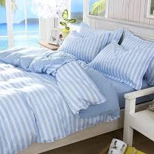 full size of polyester fiber bedding set korean blue stripe printed quilt duvet cover bed sheet