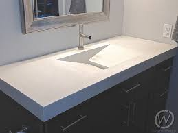 concrete trough bathroom counter