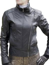 las black leather double zip jacket