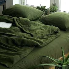 green duvet cover king covers linen custom size bedding softened quilt plain green duvet cover king